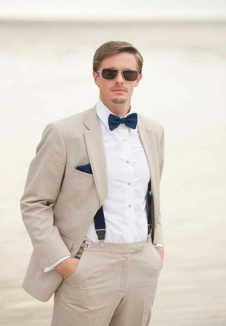 wedding #groom #modern #beige #suit #navy   Groom   Pinterest ...