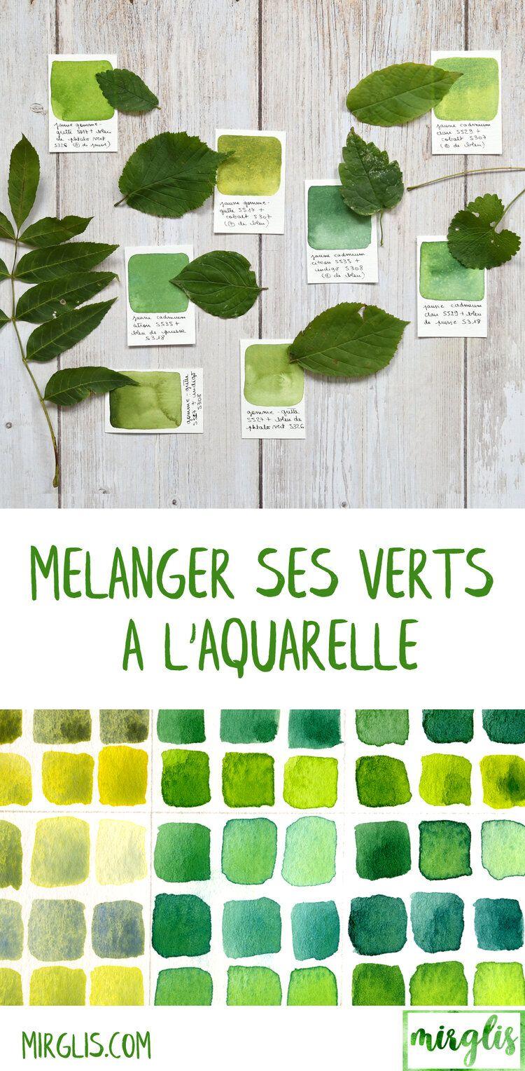 Melanger Ses Verts A L Aquarelle Palette Aquarelle Aquarelle