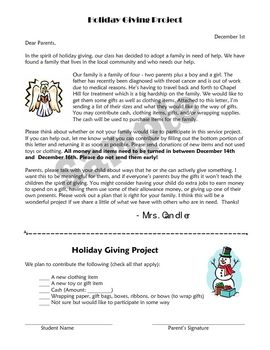 Adopt A Family For Christmas.Holiday Giving Project Have Your Class Adopt A Family For