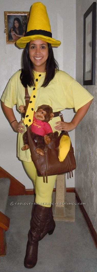Fantastic Homemade Costume The Man in the Yellow Hat Yellow hats - homemade halloween costume ideas men