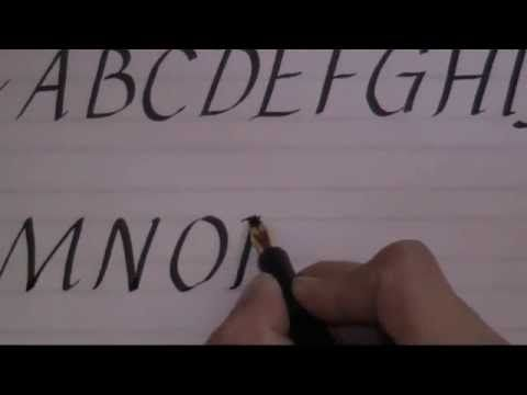 Calligraphy how to write calligraphy letters lesson 2 for