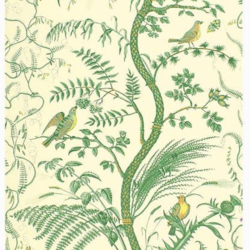 Brunschwig And Fils Bird And Thistle Green Wallpaper 40 Off Samples Thistle Wallpaper Bird And Thistle Bird And Thistle Wallpaper Bird and thistle wallpaper green