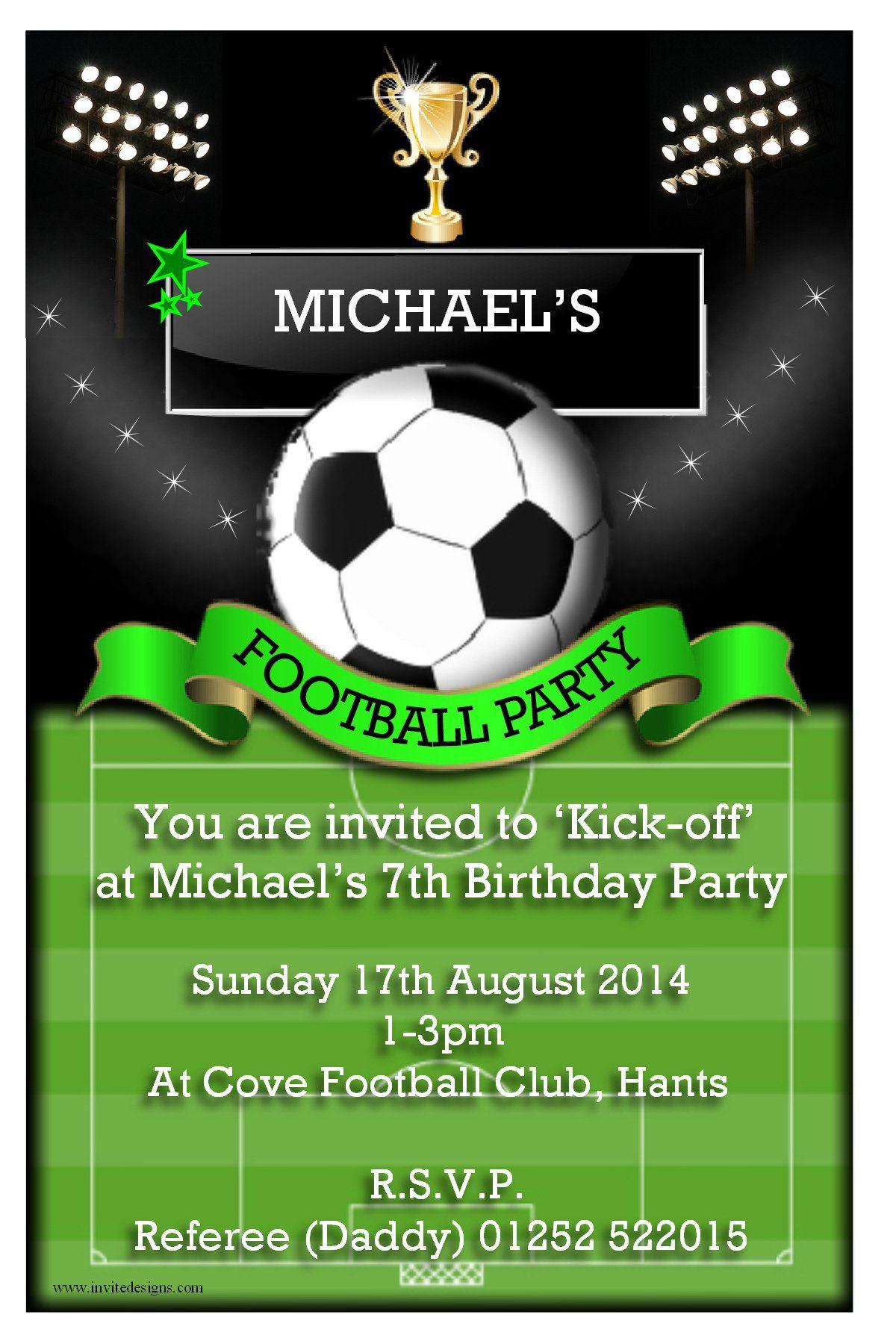 3 Inspiring Free Football Party Invitation Templates Uk Gallery