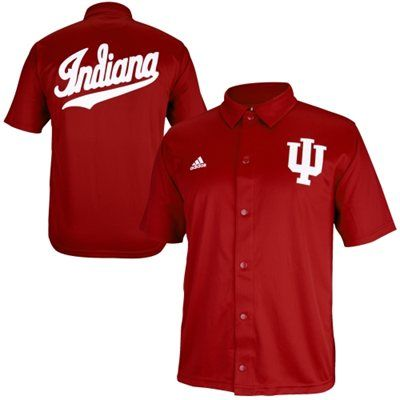 1f13358570f adidas Indiana Hoosiers Authentic On-Court Warm Up Shooting Shirt - Crimson
