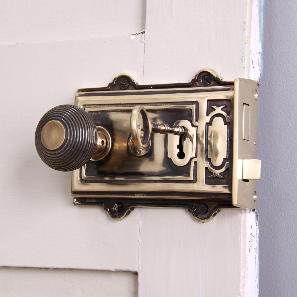 Solid Ebony Beehive Escutcheon With Brass Backplate Door Furniture: Pin By Willow And Stone Limited On Front Doors In 2019