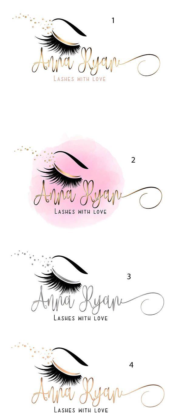 f63e63e7e54 DIGITAL Custom logo design , lashes logo, lashes beauty logo, makeup ...