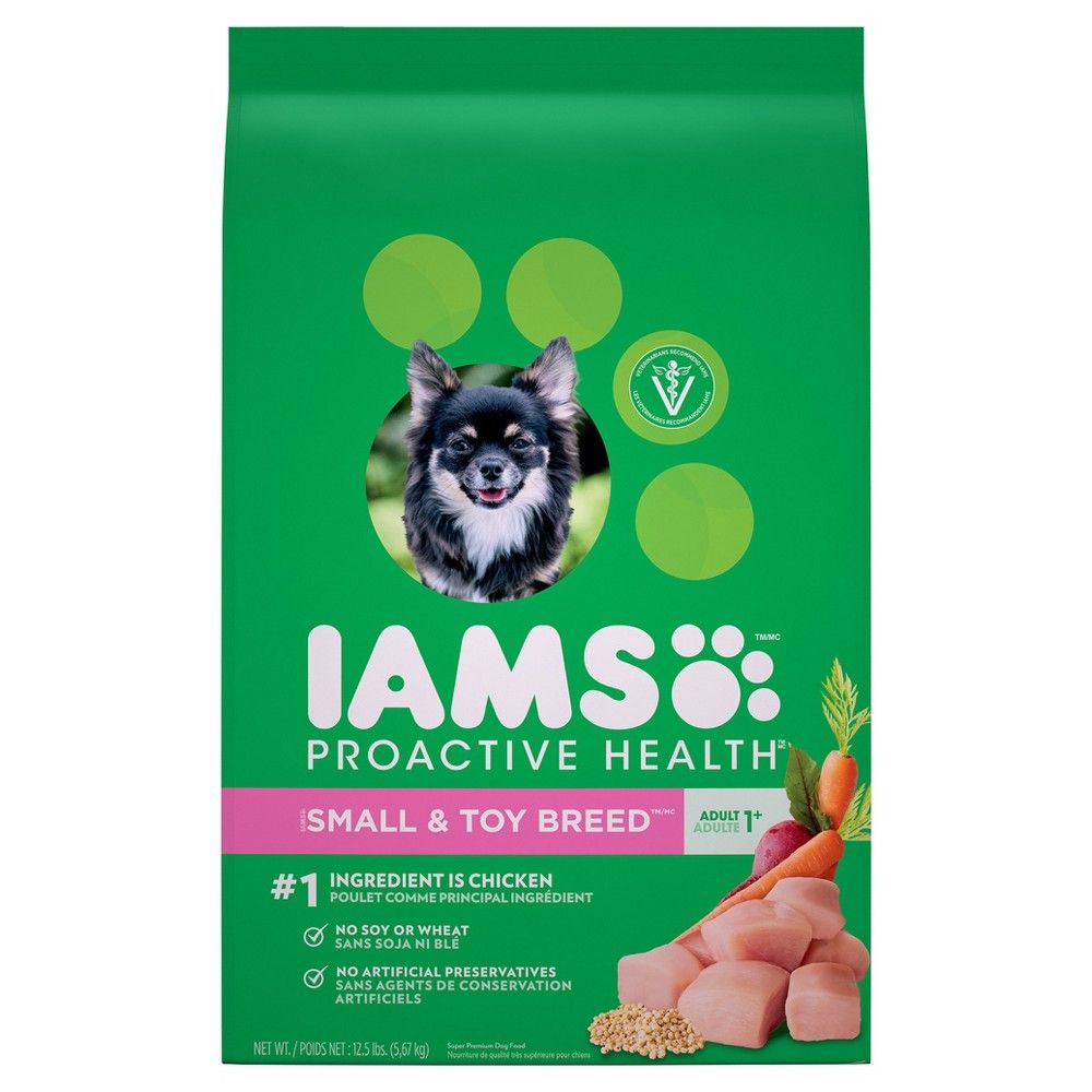 Iams Proactive Health Adult Small Toy Breed Dry Dog Food 12 5