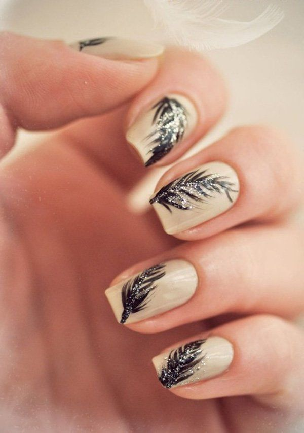 40+ Examples of Feather Nail Art - 40+ Examples Of Feather Nail Art Feather Nail Art, Feather Nails