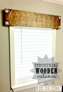 Industrial Wooden Valance Metal Wood Eclectic Wooden