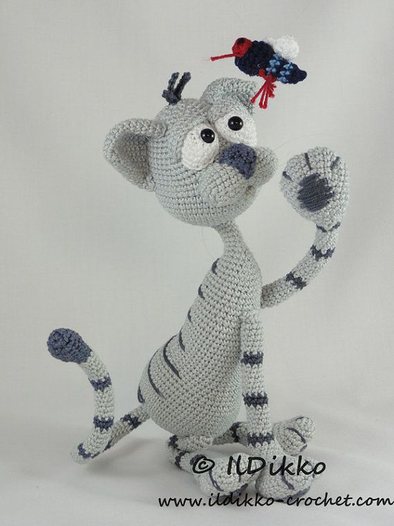 Kit the Cat Amigurumi Crochet Pattern por IlDikko en Etsy | perros ...