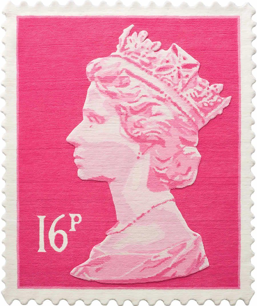 Stamp Rug 16p stamp rug | pink! | pinterest | royal mail, elizabeth ii and