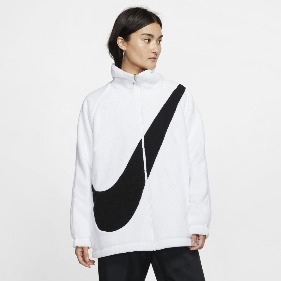Nike Sportswear Swoosh Womens Reversible Jacket In 2020 Sherpa Jacket Sportswear Women Faux Shearling Jacket