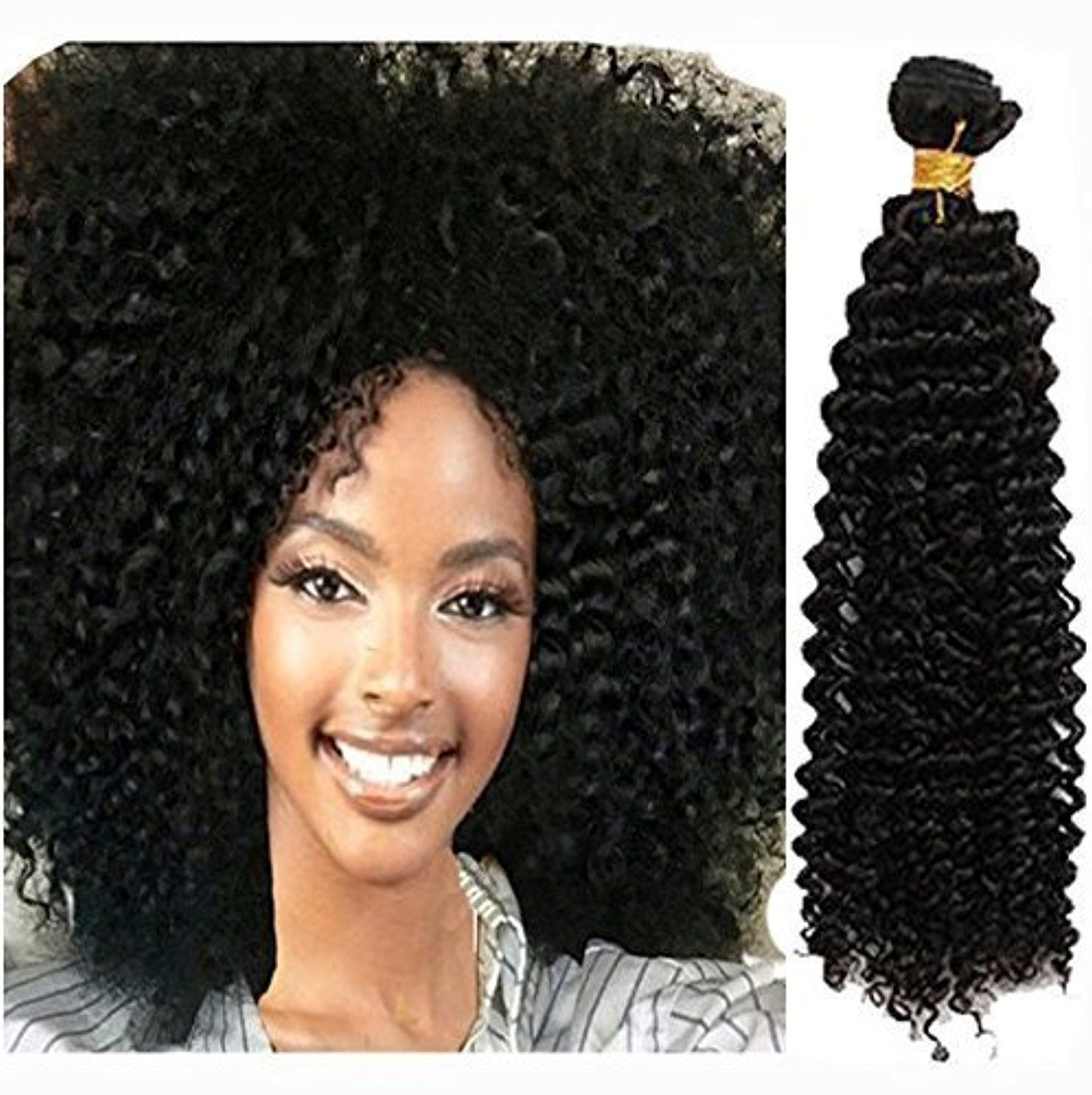 Sunny Sew in Weave Kinky Curly Human Hair 1 Bunlde 14 Inches
