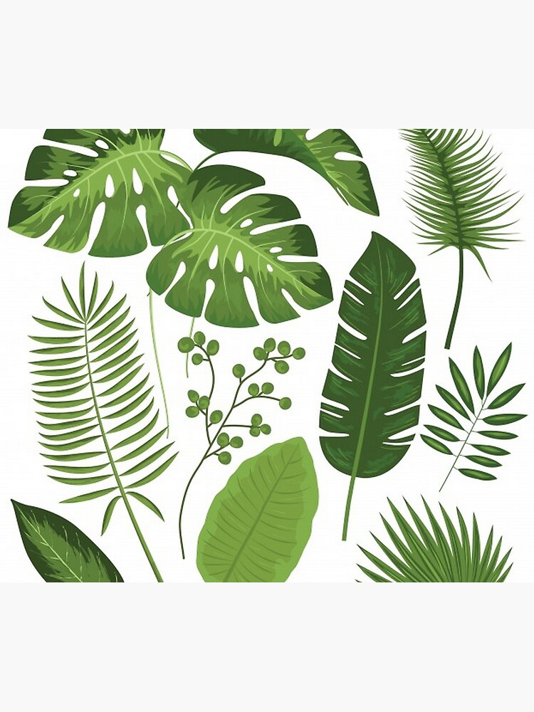 Tropical Palm Leaves Tapestry