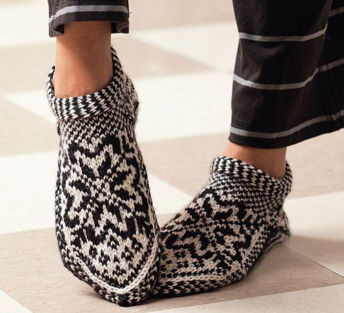 the Norwegian slipper sock | Handicraft - knitting | Pinterest ...