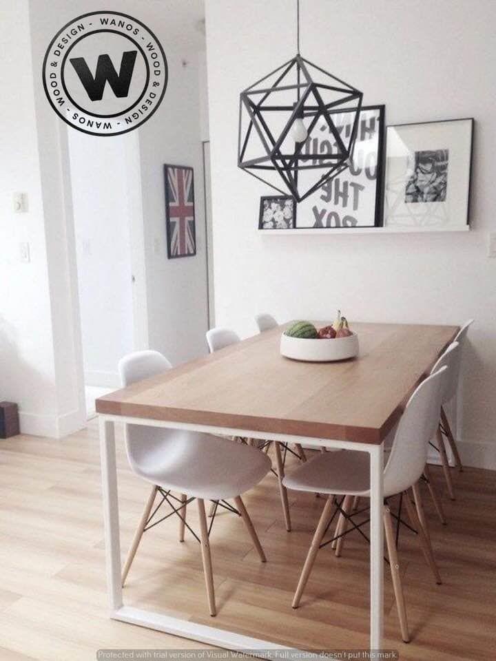 Tavolo di design realizzato in legno massello di frassino ...