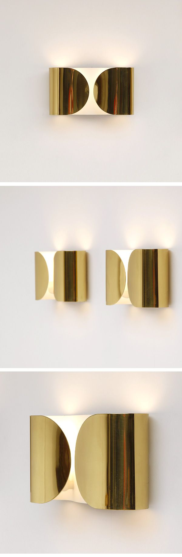 contemporary lighting  golden sconces  stainless steel and steel - contemporary lighting  golden sconces