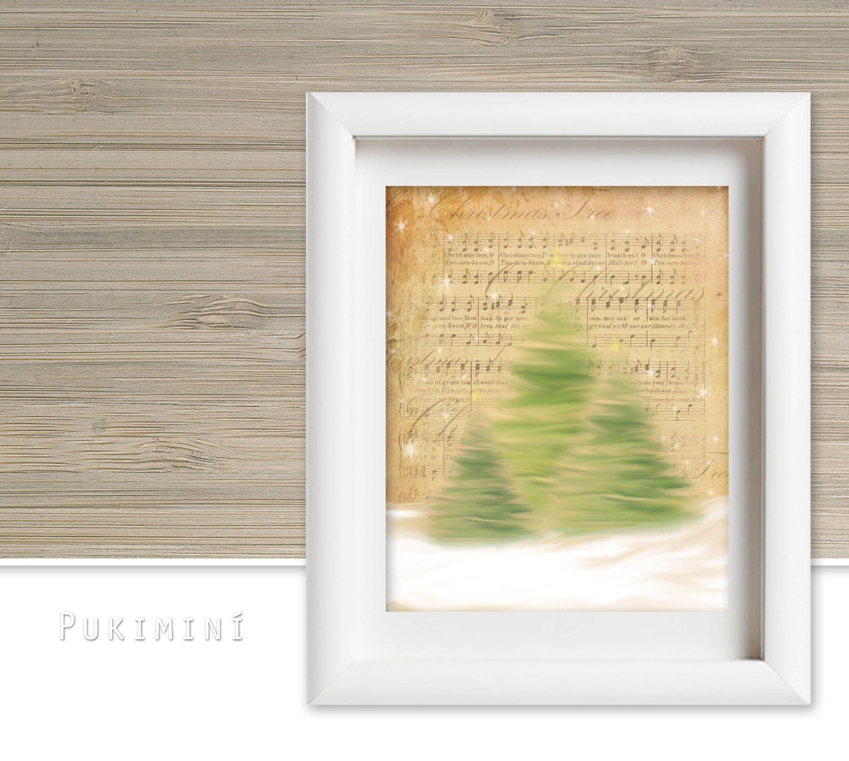 Christmas Tree - Wall Art | Christmas Printable | Pinterest | Tree ...