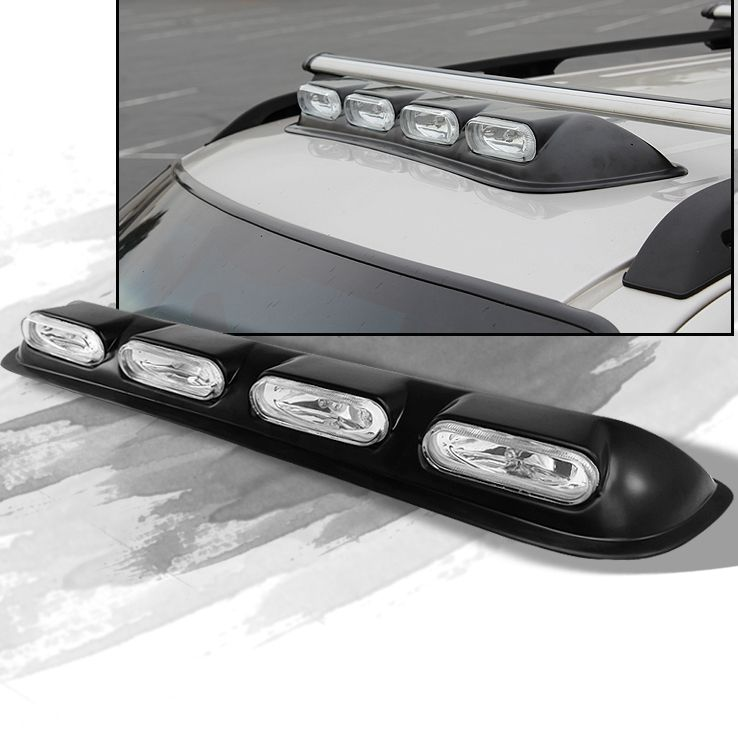 4x4 Off Road Rooftop Clear Halogen Fog Lights Bar Completed Kit w ...