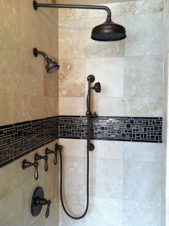 Shower Head And Hand Shower Combo The Rain Shower The Wall