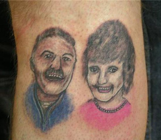 16 More Bad Wtf Did I Just Do Tattoos Bad Portrait Tattoos