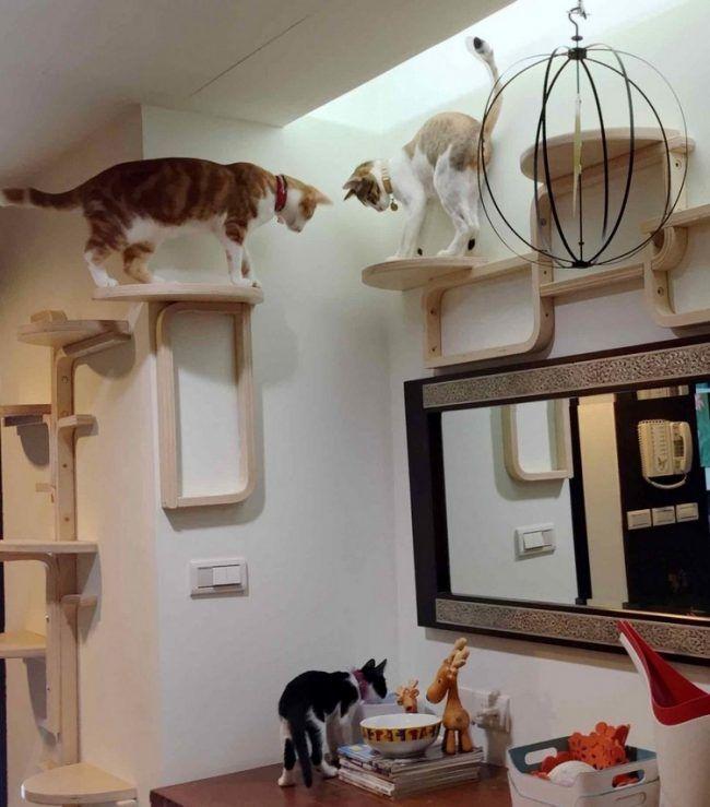 hocker ikea frosta katzenbaum wand selber bauen tiere pinterest cats cat tree und cat. Black Bedroom Furniture Sets. Home Design Ideas