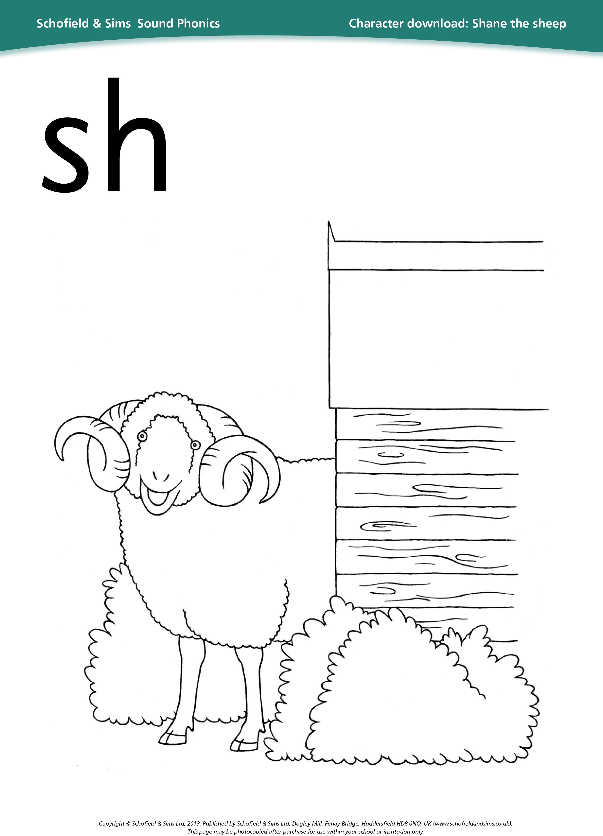 Shane The Sheep Sheet For Learning Phonics Education Ks1
