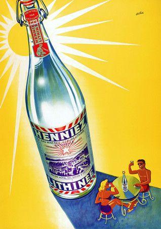Henniez Mineral Water. c.1950s http://www.vintagevenus.com.au/products/vintage_poster_print-d261