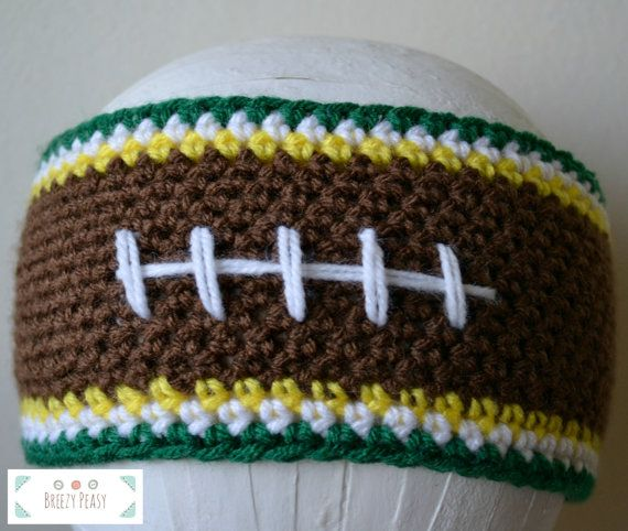 Crochet Football Headband by BreezyPeasy on Etsy More 5df43f350fb