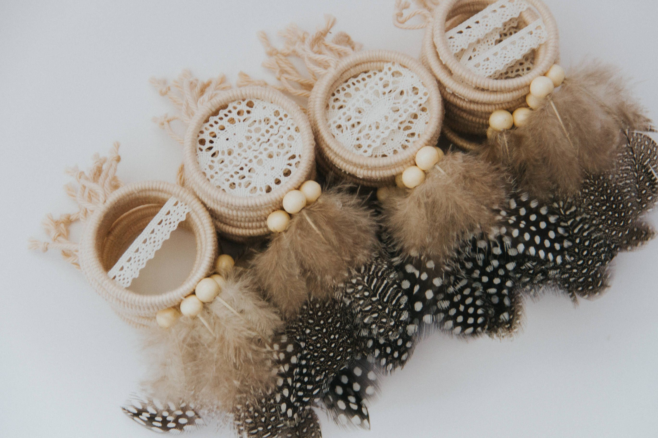 Bohemian Mini Dreamcatcher Favor Set, Boho Wedding Favors, Boho Bridal