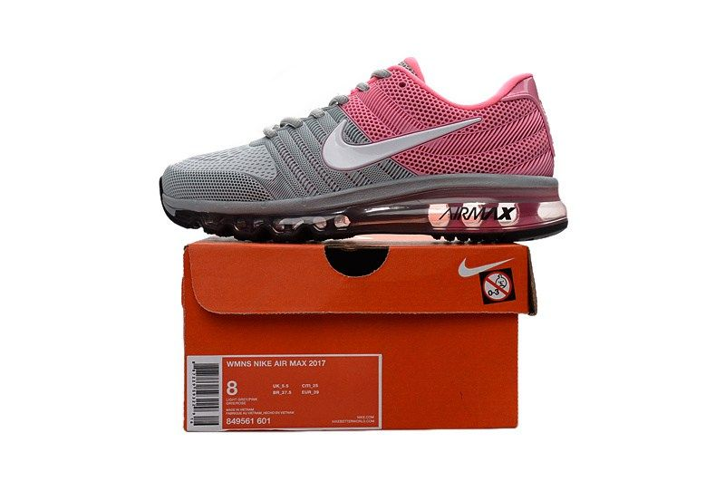 3a57e33802 ... coupon code deep lovely nike air max 2017 women grey pink kpu shoes  4455e e7a74
