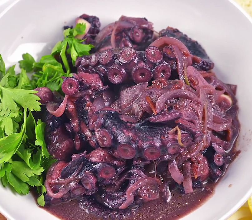 Healthy, Delicious & Easy Octopus Recipe With Red Wine -