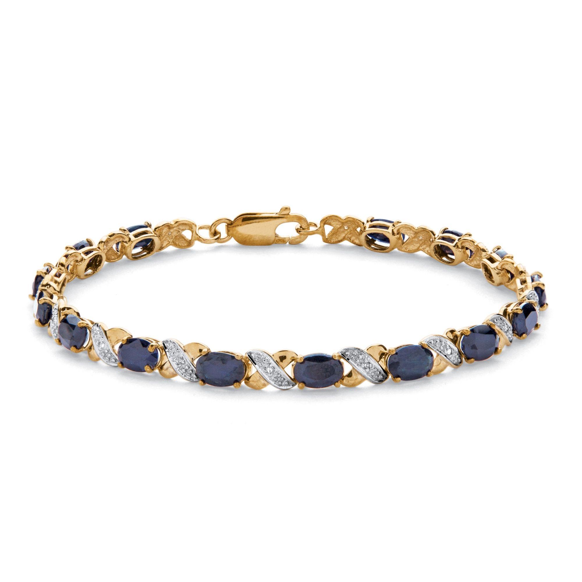 A fashionable lifestyle needs a fabulous X & O tennis bracelet like our blue sapphire beauty, 8.40 carats T.W., all chic-IRyZTtd3