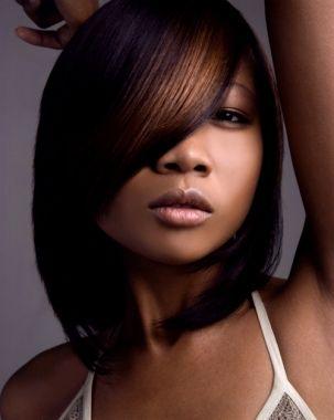 Medium Hairstyles For Black Women asymmetrical bob for black women 37 Cute Medium Haircuts To Fuel Your Imagination