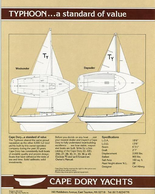 cape dory typhoon 18 | Sailboats 18' - Cape Dory Typhoon | Dory