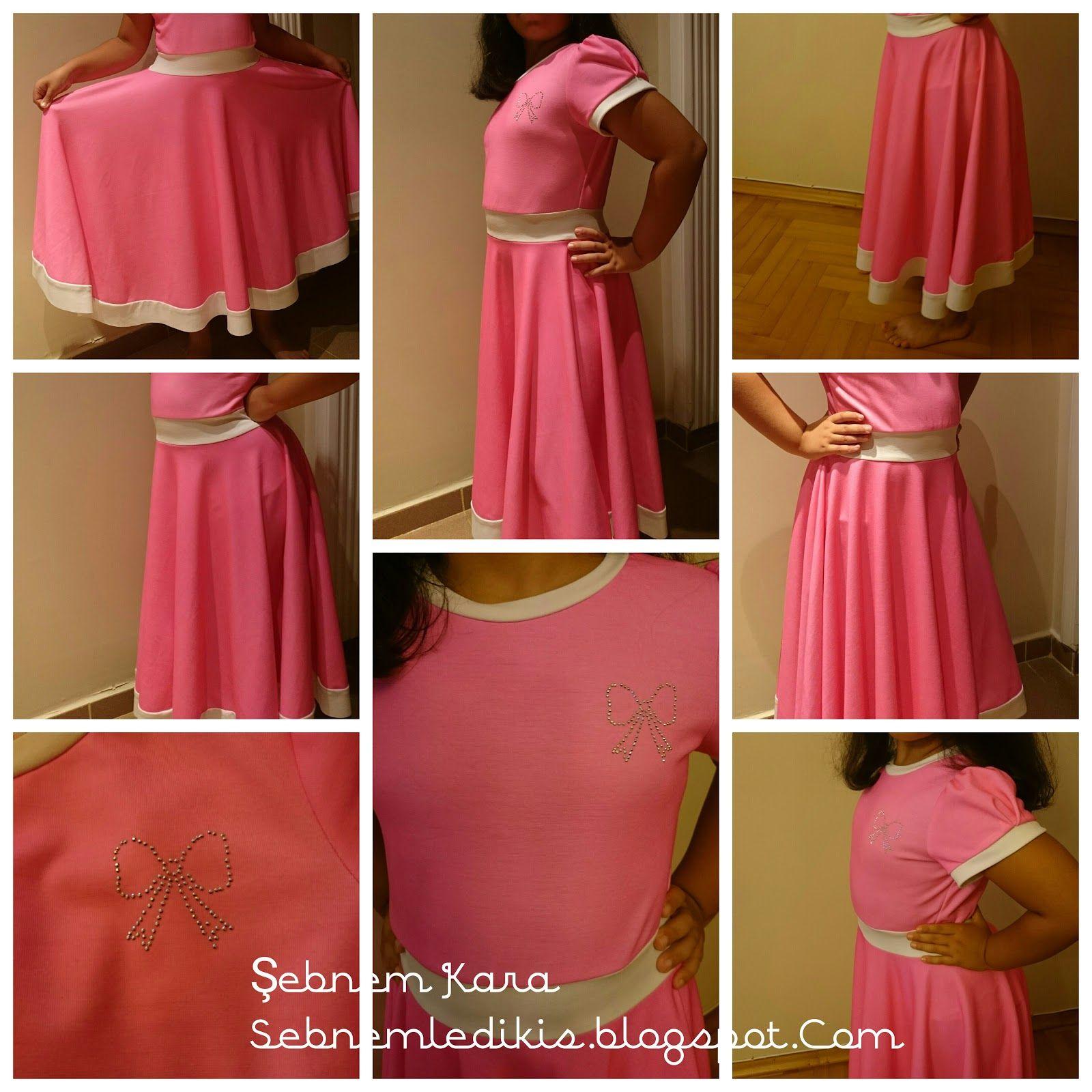 9 10 Yas Kiz Cocuk Elbise Dikimi Anlatimli Elbise Kiz Elbiseleri Klos Etek