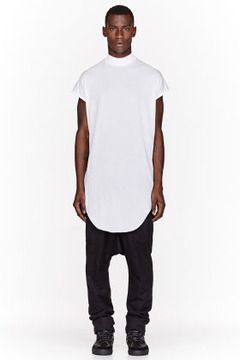 7ab9bbe6c DAMIR DOMA White oversize ribbed tenem tank top on shopstyle.com ...