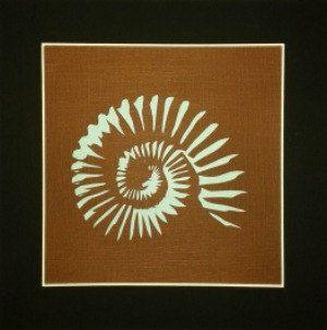 ORIGINAL & HAND CUT Ammonite - Nature paper cut wall art. £30.00, via Etsy.