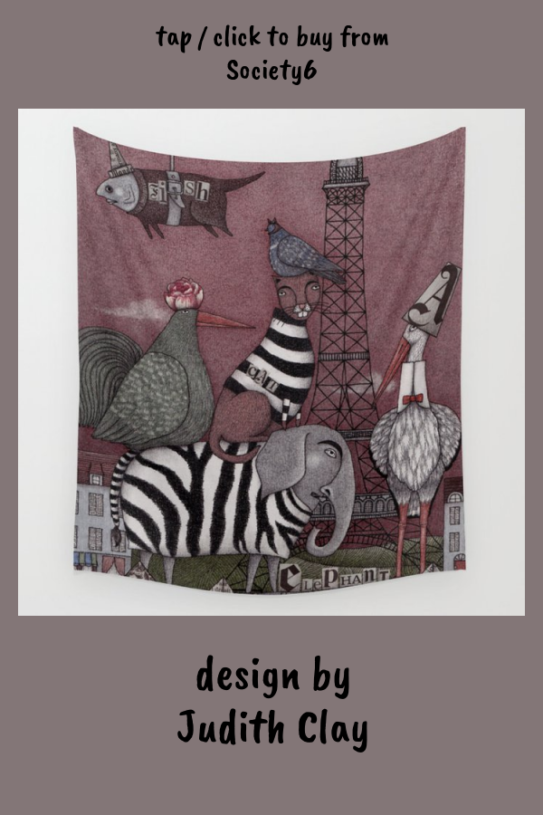 Animal Convention Wall Tapestry by judithclay