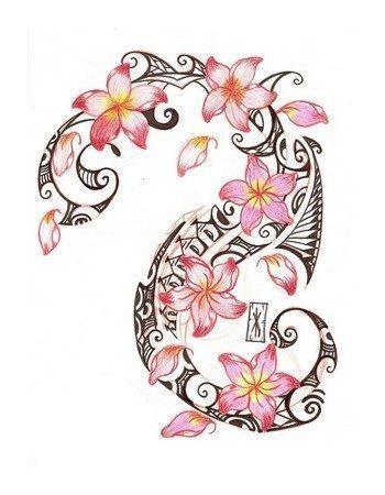 von Plumeria Tattoo auf Pinterest | Tätowierungen Blumentattoos … #hawaiiant … – Tattoos More And Ideas – Tägliches Pin Blog – Modern