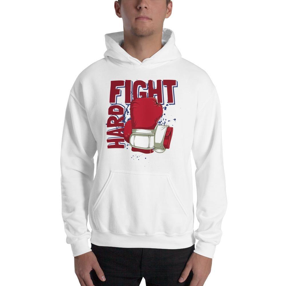 Men Custom Fight Hard Hoodie Hoodies Cozy Sweatshirts Graphic Sweatshirt [ 1000 x 1000 Pixel ]