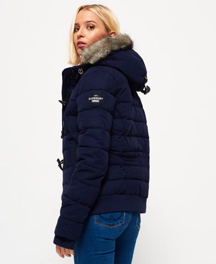 Superdry Microfibre Toggle Puffle Jacket Navy