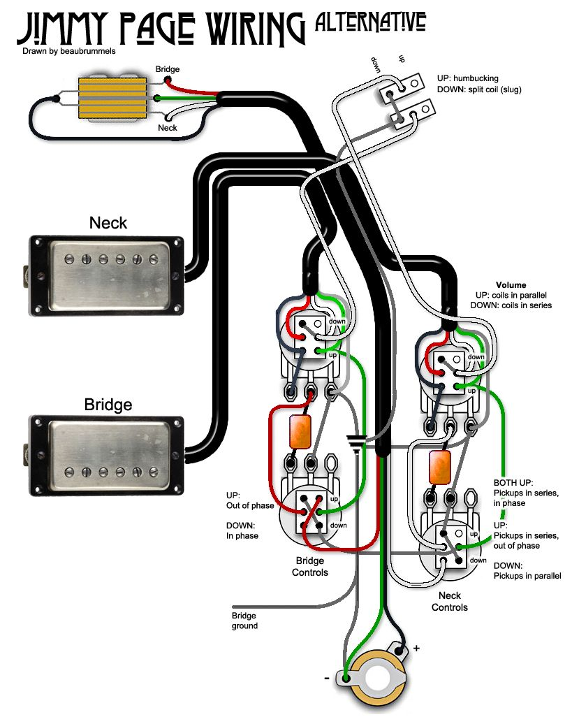 Jimmy Page Wiring Diagram Somurich com