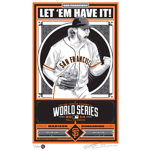 San Francisco Giants Madison Bumgarner 2014 World Series ...