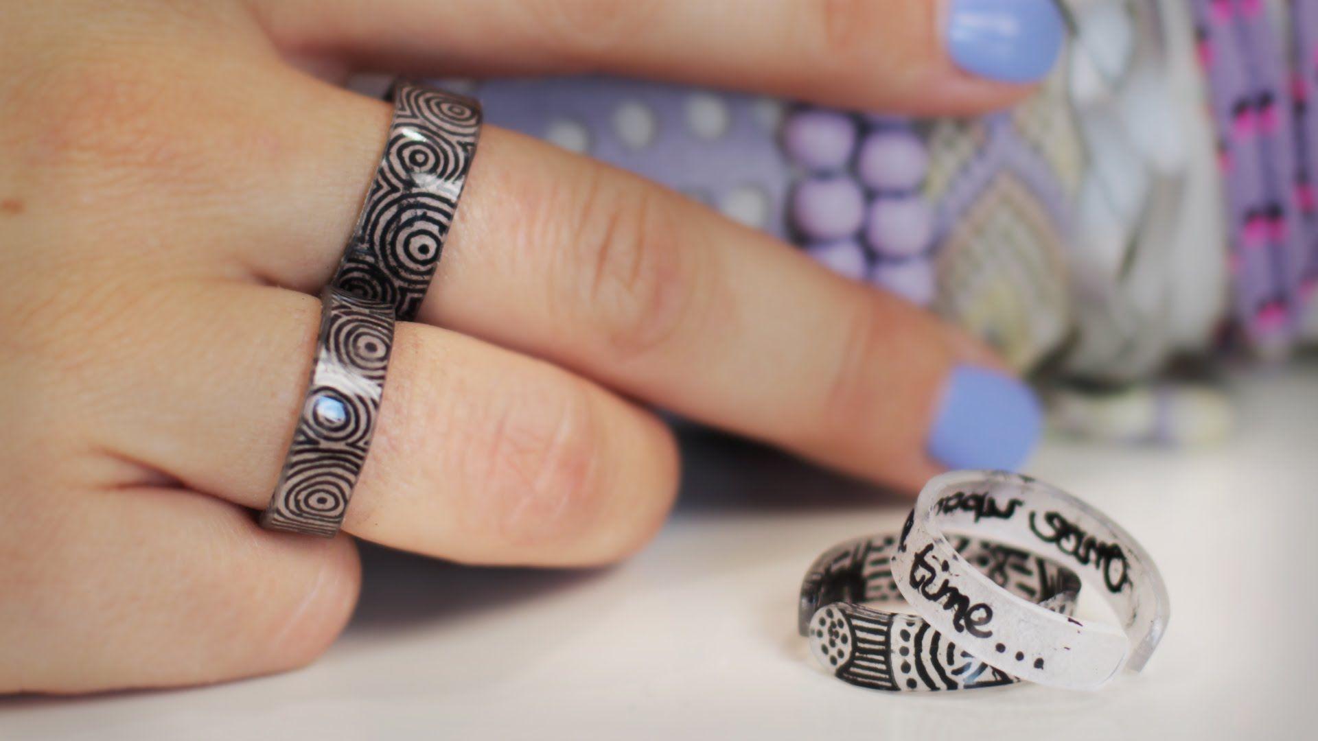 diy ringe aus schrumpffolie komplett selbst gestalten. Black Bedroom Furniture Sets. Home Design Ideas