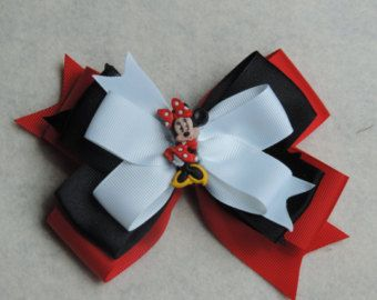 Minnie Mouse inspired 5 inch stacked bow $3.50
