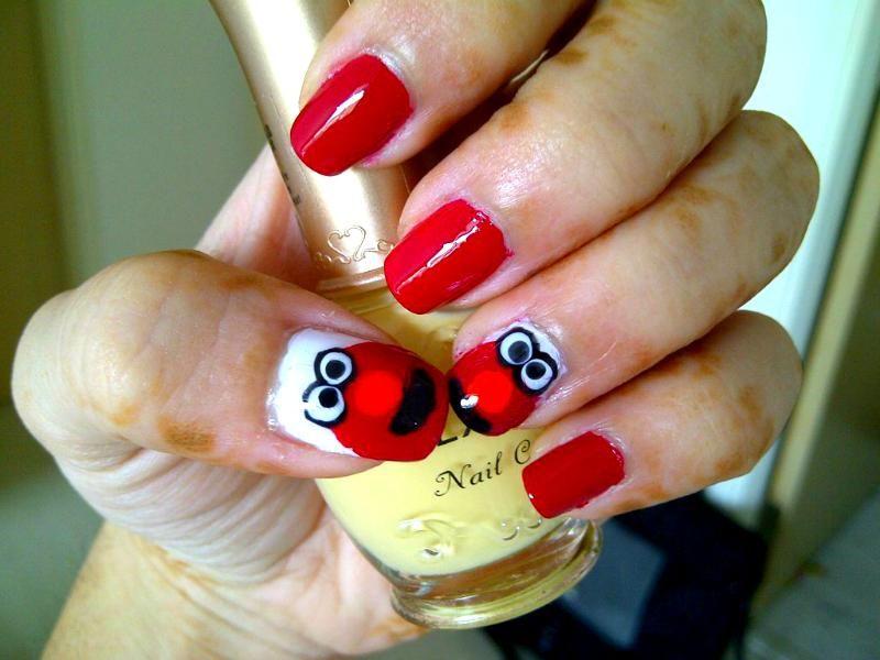 Tickle Me Elmo Nails