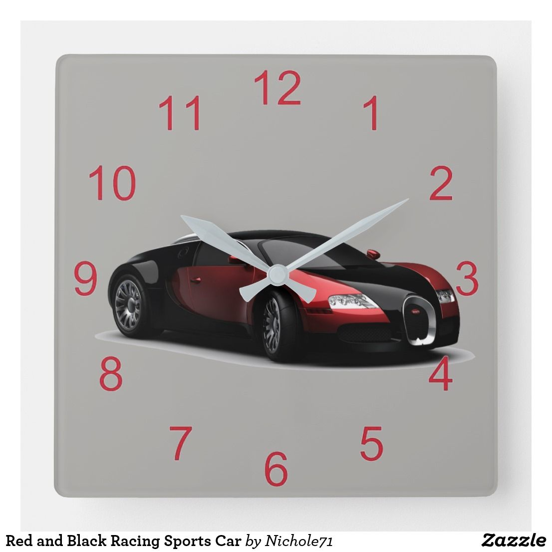 Red And Black Racing Sports Car Square Wall Clock In 2020 Sports Car Sports Cars Best Car Insurance