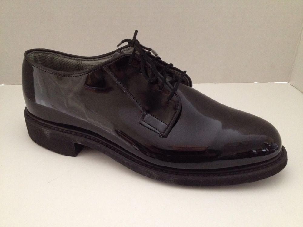 1f7877ae8d Bates #Shoes Mens Size 8 E High Gloss Black Lace Up Oxford 8E Wide Width  Vibram #Bates