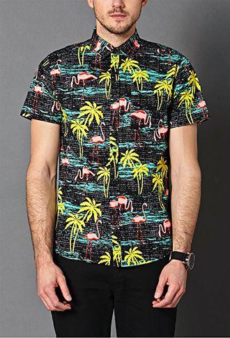Tropical Print Cotton Shirt 21 Men 2000063438 Cotton Shirt